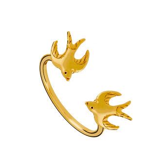 Anillo golondrinas oro, J01864-02, hi-res
