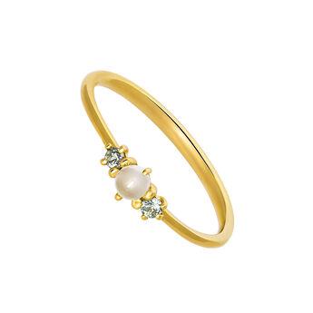 Gold gemstone slim ring, J03560-02-WMS-GS, hi-res