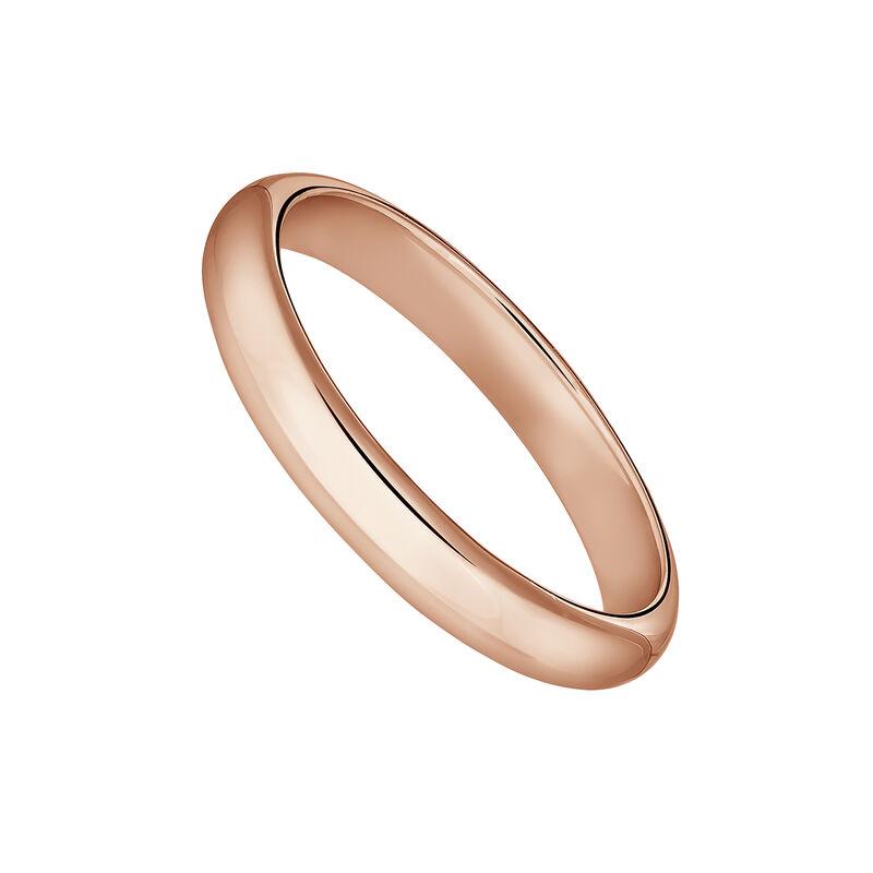 Anillo banda pequeño plata recubierta oro rosa, J04100-03, hi-res