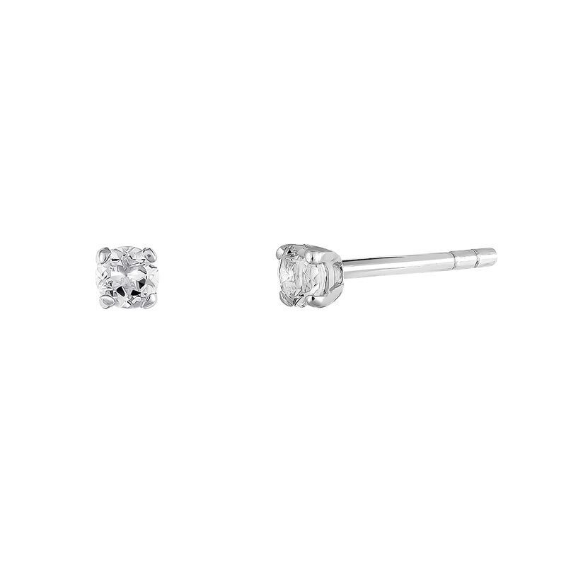 Silver earrings prong topaz, J03457-01-WT, hi-res