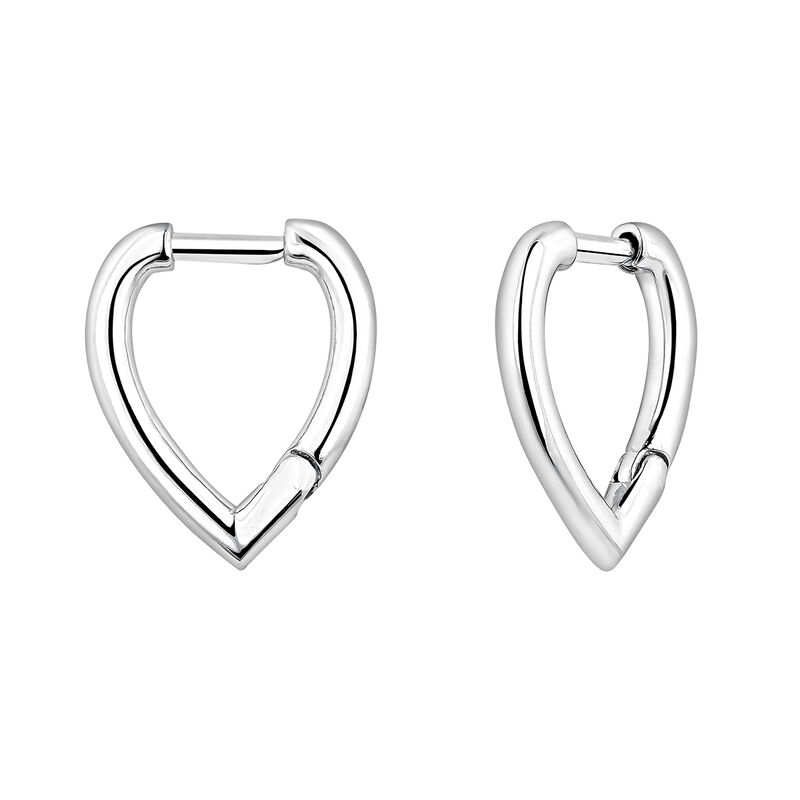 Drop silver hoop earrings, J04647-01, hi-res