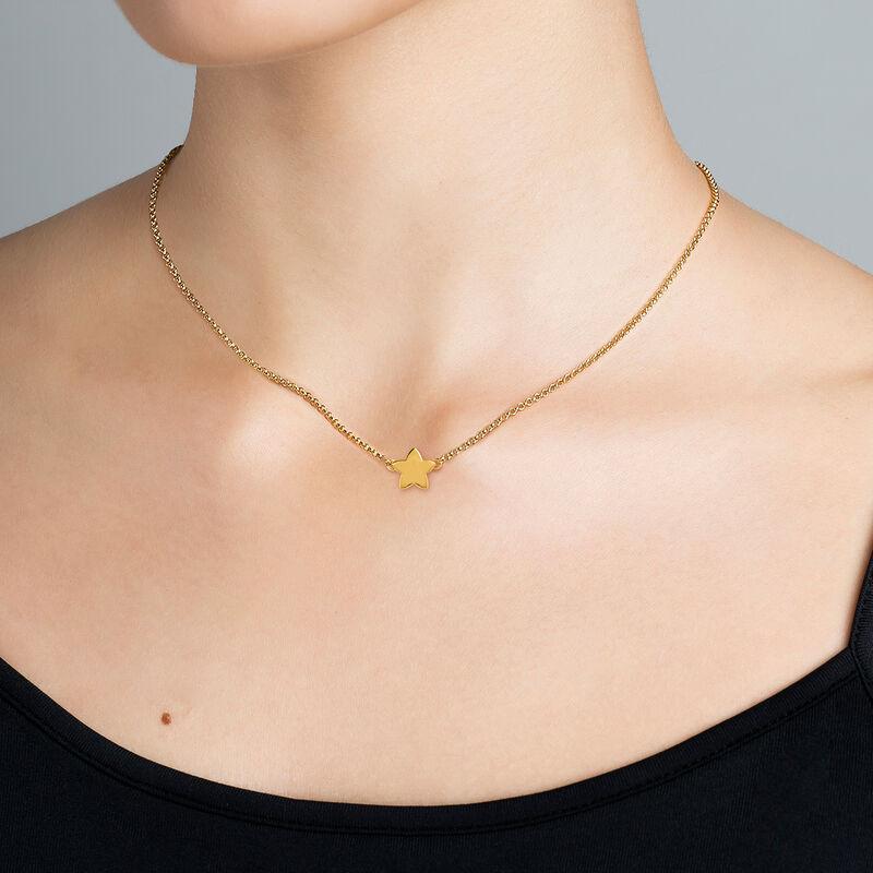 Gold star necklace, J01083-02, hi-res