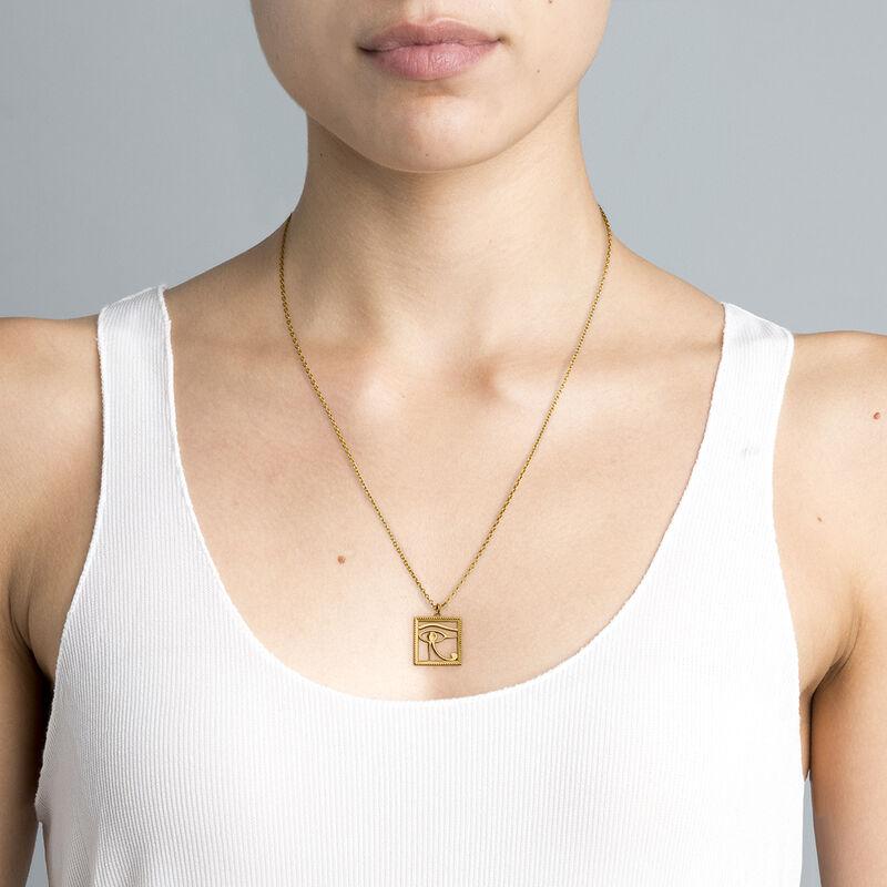 Egyptian Horus' eye necklace gold, J04272-02, hi-res