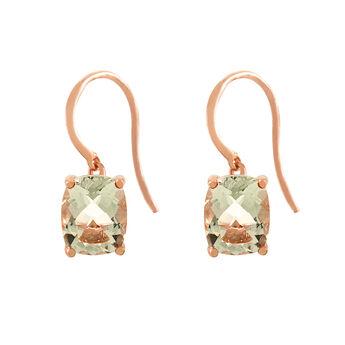Rose gold quartz large earrings , J01963-03-GQ, hi-res