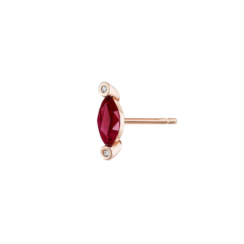 Earring ruby and diamonds rose gold, J04072-03-RU-H, hi-res