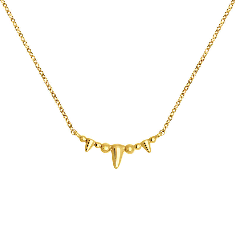 Gold necklace with spikes, J03866-02, hi-res