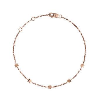Rose gold stars bracelet, J04012-03, hi-res