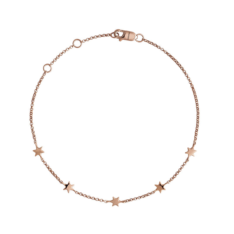 Rose gold stars bracelet, J04012-03, hi-res