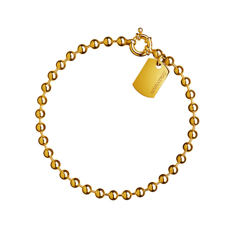 Medium gold plated balls bracelet, J01450-02, hi-res
