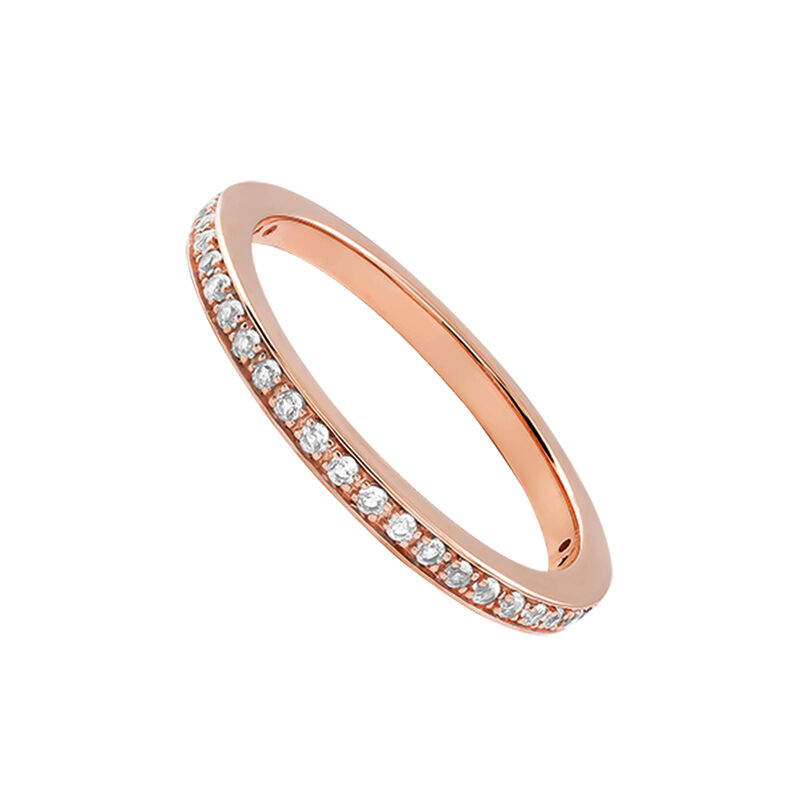 Rose gold plated simple ring with topaz, J03264-03-WT, hi-res