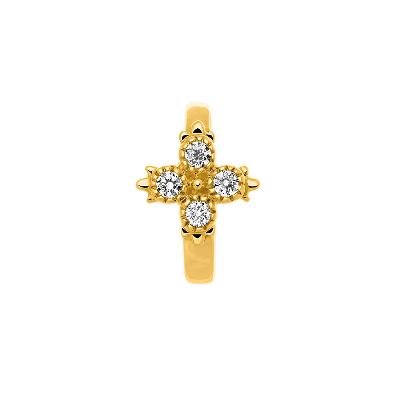 Piercing aro diamantes 0,033 ct oro 9 kt