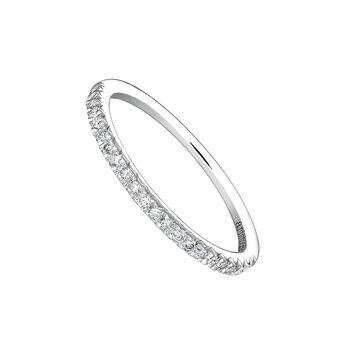 White gold border ring 0.19 ct. diamonds, J03938-01-19, hi-res