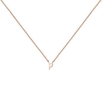 Collar inicial P oro rosa9 kt, J04382-03-P, hi-res