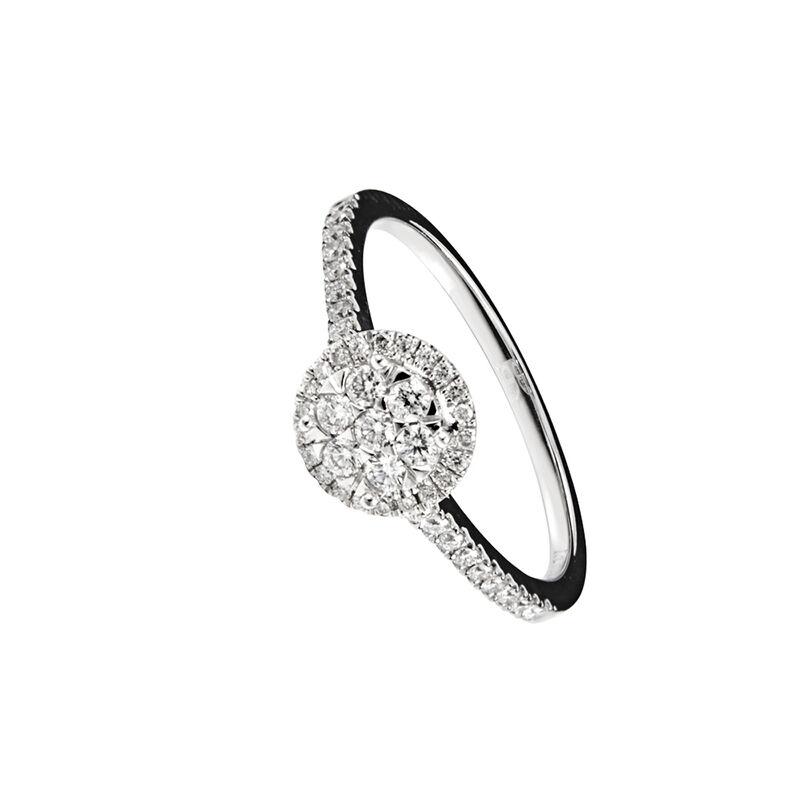 Anillo orla diamantes oro blanco 0,2 ct, J00693-01-20, hi-res