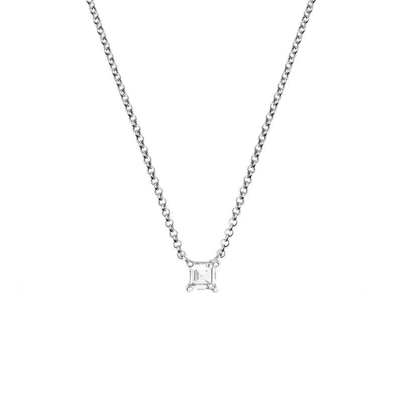 Silver colourless topaz necklace, J03113-01-WT, hi-res