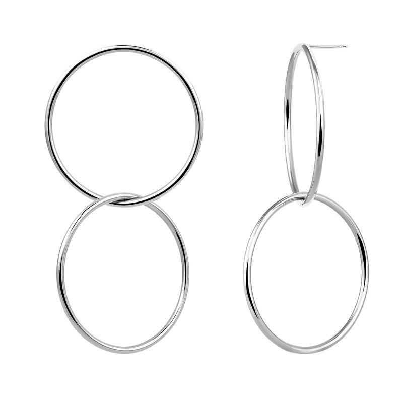 Pendientes aro dobles maxi plata, J03433-01, hi-res