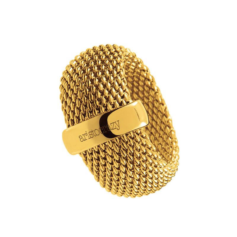 Anillo grande malla oro, J01282-02, hi-res