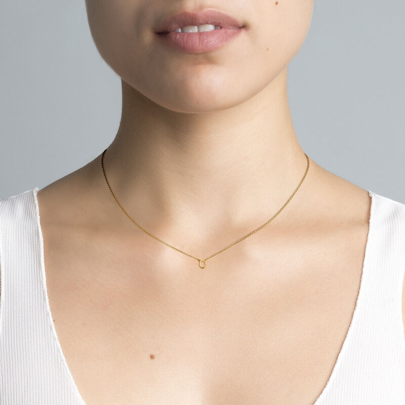 Collier initiale O or, J04382-02-O, hi-res