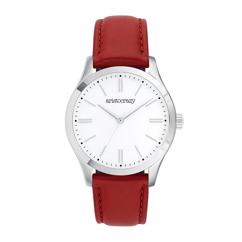 Red strap Mitte watch, W41A-STSTSV-LERE, hi-res