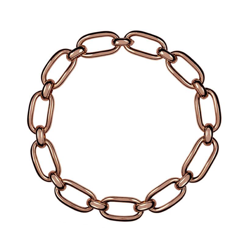 Collar eslabones cuadrados plata recubierta oro rosa, J00908-03, hi-res