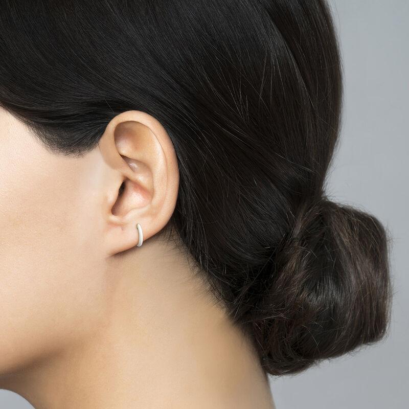 Boucle d'oreilles émail blanc argent plaqué or, J04129-02-WENA-H, hi-res