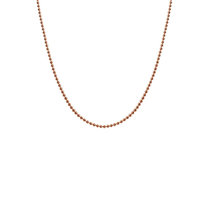 Rose gold short ball chain, J01474-03-45, hi-res