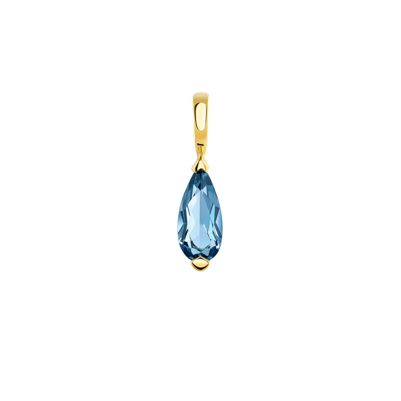 Gold plated topaz necklace, J03948-02-LB, hi-res