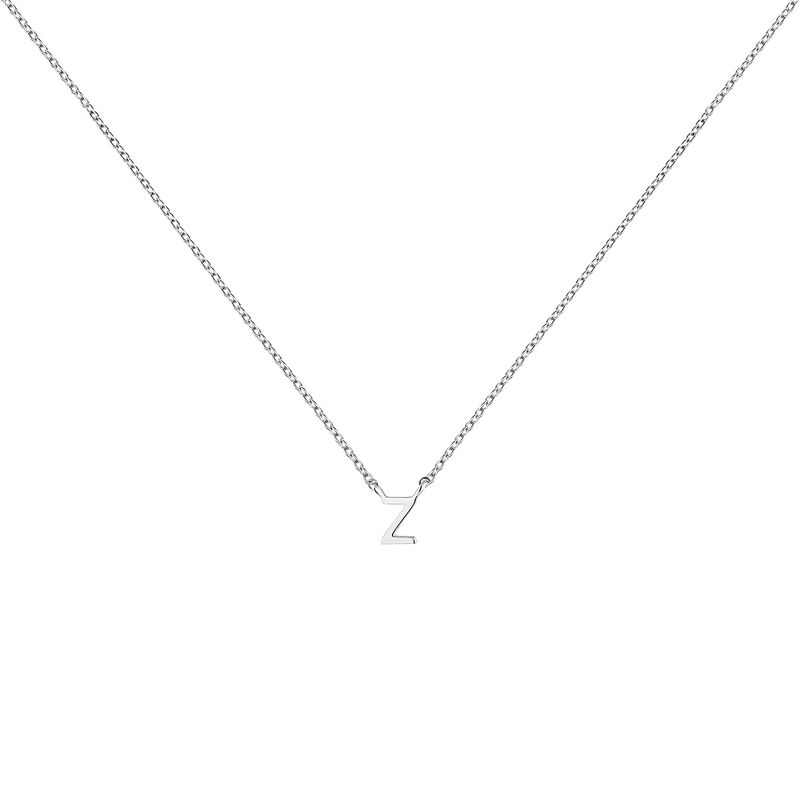 Collier iniciale Z or blanc, J04382-01-Z, hi-res