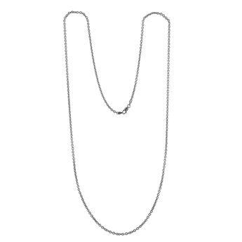 Cadena roló ovalada corta plata , J00563-01-60, hi-res