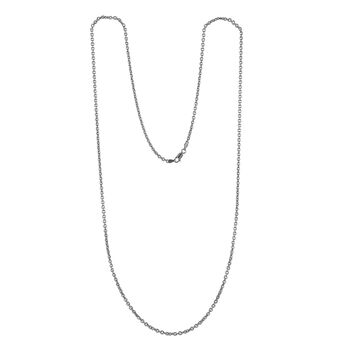 Silver long oval rolo chain, J00563-01-80, hi-res