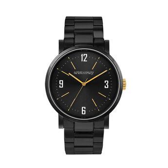 Montre Brooklyn bracelet cadran noir, W45A-BLBLBL-AXBL, hi-res
