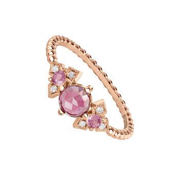 Rose-Gold Vintage Large Ring, J03798-03-PS, hi-res