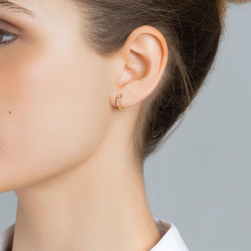 Gold diamonds hoop earring 0.07 ct, J03362-02-H, hi-res