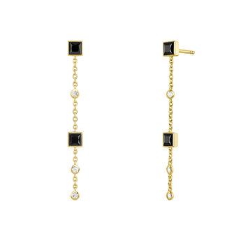 Pendientes largos espinela y topacio plata recubierta oro, J04090-02-BSN-WT, hi-res