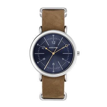 Camps Bay watch camel strap, W49A-STSTBU-LEBR, hi-res