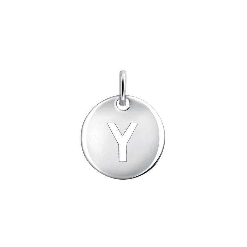 Silver Y letter necklace, J03455-01-Y, hi-res
