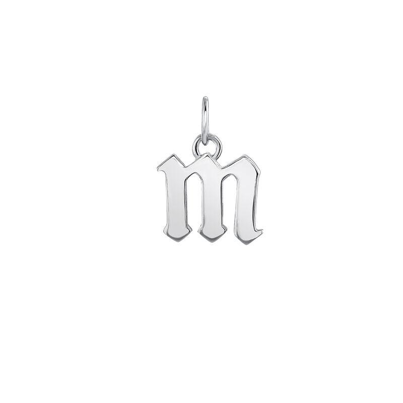 Colgante inicial gótica M plata, J04016-01-M, hi-res