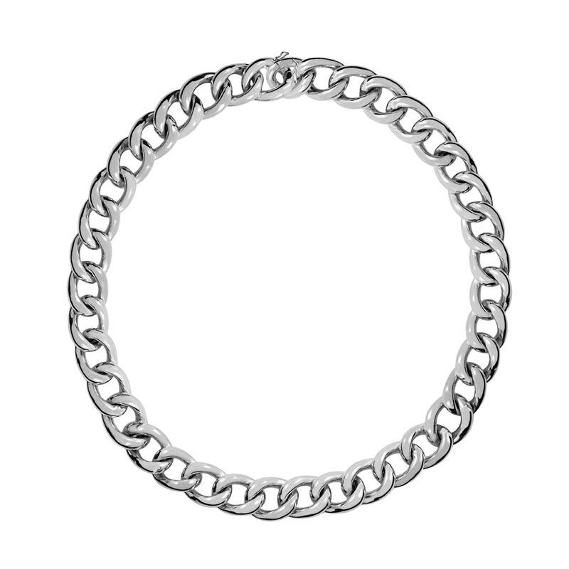 Long silver barbed necklace, J00907-01-85, hi-res