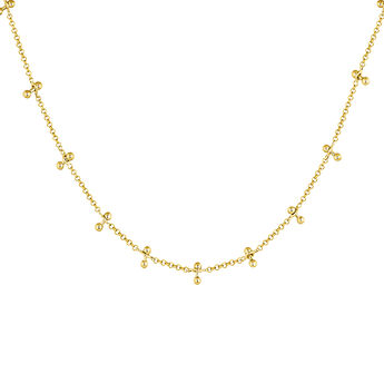 Gold plated silver piercing bars necklace, J04328-02, hi-res