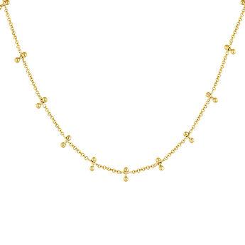 Collar barras piercing plata recubierta oro, J04328-02, hi-res