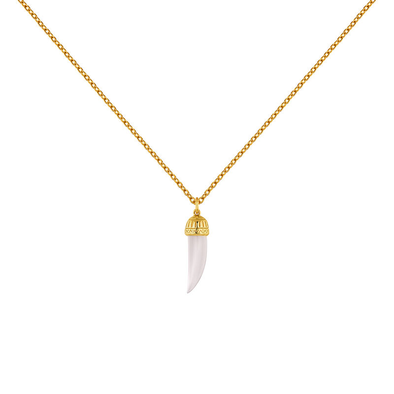 Collar cuerno cuarzo rosa plata recubierta oro, J04389-02-PQ, hi-res