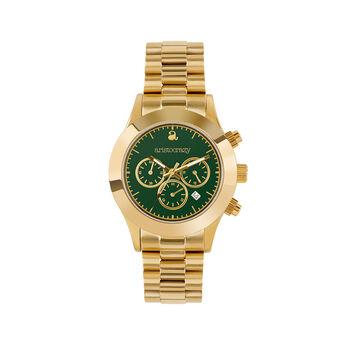 Reloj Soho oro esfera verde, W0029Q-STGR-STAM, hi-res
