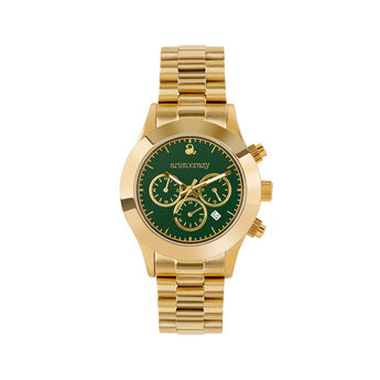 Soho watch gold bracelet green face., W29A-YWYWGE-AXYW, hi-res