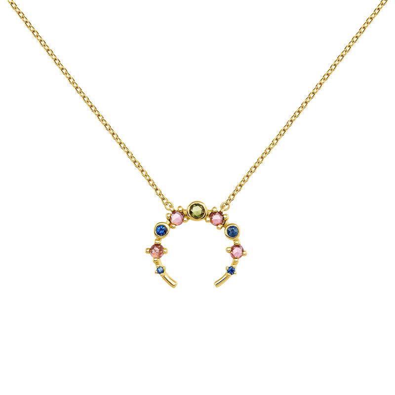 Open necklace tourmaline and sapphire gold, J04151-02-GTPTBS, hi-res