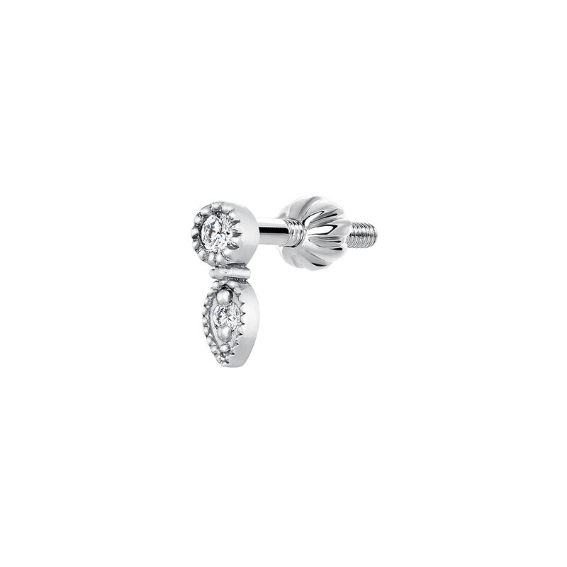 9 kt white gold piercing pendant with 0,020ct diamond, J03915-01-H, hi-res