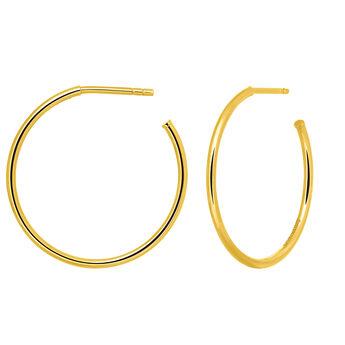 Pendientes aro mediano oro, J03519-02, hi-res