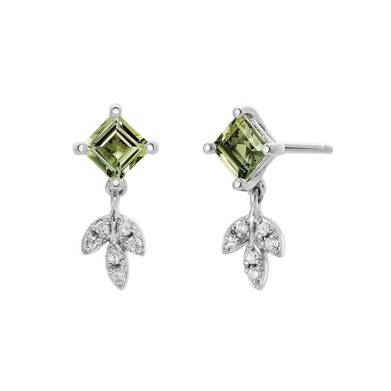 Pendientes colgantes plata turmalina verde, J03714-01-GTU, hi-res