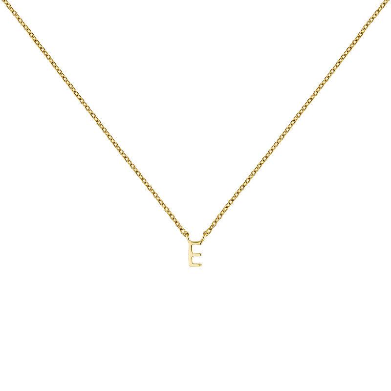 Collar inicial E oro