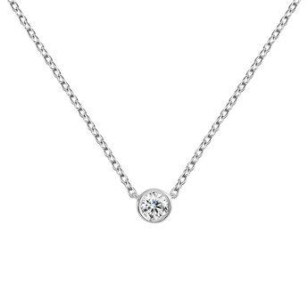 Colgante diamante 0,05 ct oro blanco, J04006-01-05, hi-res