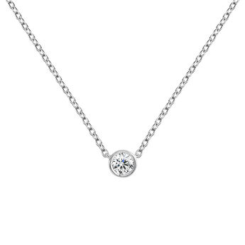 Collier diamant 0,05 ct or blanc, J04006-01-05, hi-res